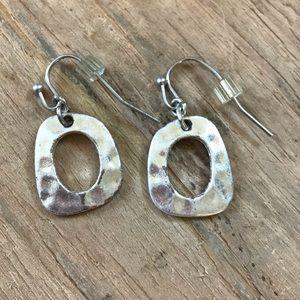 Dewey Lia Sophia Pierced Silver Earrings Frame